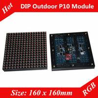 Epistar P10  Outdoor High Brightness 7500 cd RGB Large  LED Display Screen Unit Module  2 Years Warranty