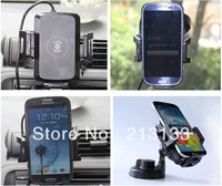Free Shiping Qi standard Wireless Car Charger Wireless charging Pad with car Holder plate for  Nexus4/5,Samsung Galaxy S4/S3