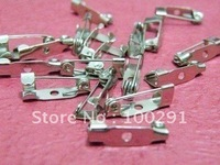 15mm Silver Plated Brooch Base Brooch Safety Pin Jewelry Findings Accessories Components