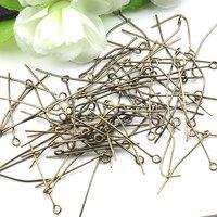 DIY Jewelry Findings-30mm bronze eye head pin