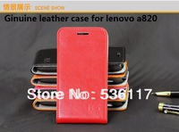 Luxury leather case for lenovo a820 leather case cover for lenovo a820 flip phone case fashion!