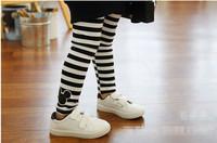 Free Shipping Children's Clothing Pants Mickey Cartoon Stripe Print Leggings Girl's Kids Autumn Cotton Trousers CL0486