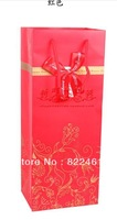 The new high-grade red wine bags classic decorative pattern double pens gift bag paper bag wholesale wine  36*15*12CM