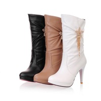 3 colors Free shipping spring and autumn women's boots high-heeled platform  Short boots  2013  SXZ017