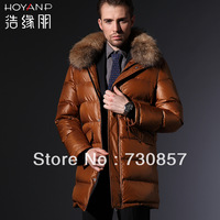 Double price of 2013 new men long thickening 11 carnival down jacket fashion leisure special offer free shipping