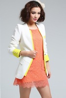 2013 new fashion Ladies Slim casual jacket 4 colors S-XL