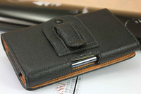 New 2014 Lichee pattern Leather Pouch phone bags cases with Belt Clip for fly iq444 Cell Phone Accessories