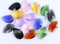 MIXED COLOR, 38mmx 22mm of crystal chandelier pendants/crystal curtain pendants,crystal chandelier parts (396pcs/lot)