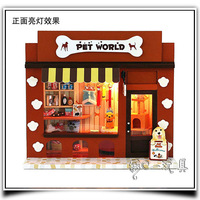 New Store Promotion Pet paradise Hut in Europe Free Shipping DIY Doll House