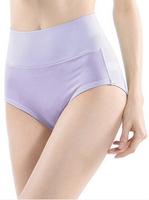 Free Shipping Ladies cotton high waist abdomen panties drawing women's seamless briefs 3pcs/lot
