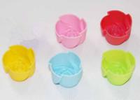 Free Shipping 30pcs MINI Rose DIY Wholesale  3cm Silicone Cake Mold/Cupcake Mold /Baking Mould Bakeware 5Colors