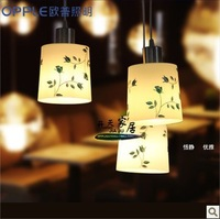 Simple modern restaurant LED lamp head lamp chandelier three pastoral romance