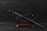 Art Japanese Handmade Katana Damascus Folded Steel Practical Sharp Sword * 790