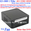 2013 new cheap computer with Slim ODD CD-ROM 4G RAM 320G HDD with  Windows or linux installed AMD E2-1800 APU Radeon HD Graphic
