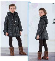 Down coat duck down child turn-down collar medium-long female child y01104598