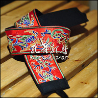 Fashion belt general single-circle flower graphic patterns automatic buckle knitted strap red handmade