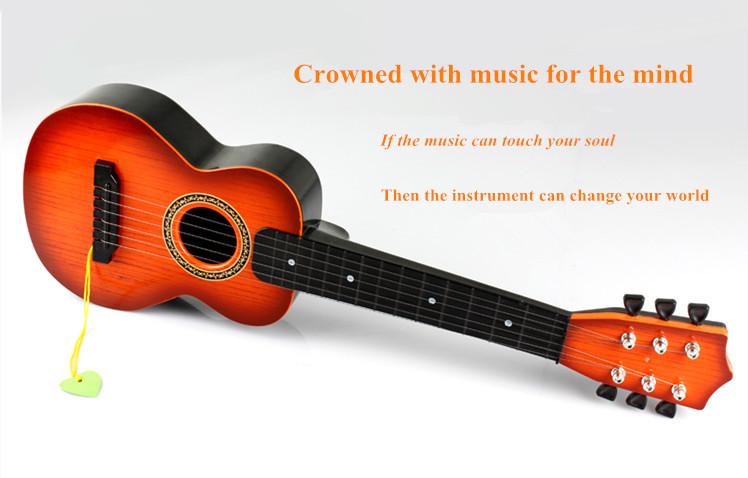 Emulation Mini Guitar True Strings Children's Toy Guitar Early Education Children's Musical Instruments(China (Mainland))