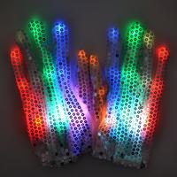 Party Colorful LED Gloves Dance Rave Light Finger Lighting Flashing Glow Mittens Light halloween Glove