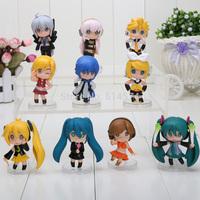 10pcs/set 6cm Nendoroid Petit Vocaloid figure Good Smile Hatsune Miku