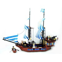 Kazi Building Block Toy Pirate Ship Construction Sets Educational Bricks Bricks Toys for Children Compatible Blocks