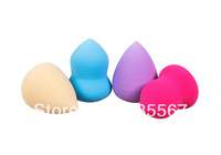 Free Shipping Fashion 1set 4pcs 4 Colors 2 Style Beauty Flawless Smooth Makeup Toiletry Puff Sponges Blender Foundation Cosmetic