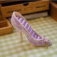 Chinese style cheongsam princess high-heeled shoes seat ring jewelry storage display rack