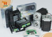20% Anniversary Promotion! 3 Axis Nema34 Stepper Motor WT86STH118-6004A 1232oz 118mm 5.6A CNC Kit
