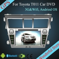 For TOYOTA VIOS 2007- 7'' Android Car DVD Player For TOYOTA CP-T011 with 3G Wifi Hotspot RDS Analong TV Bluetooth