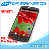 "Original ZOPO ZP990 MTK6589T Quad Core 1.5Ghz Smart phone 6"" 1080p 2GB RAM Android dual sim 13MP 3G GPS gorilla screen + Gift"