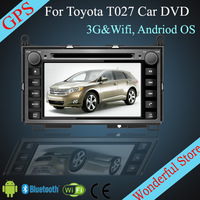 For TOYOTA Venza 2008- 7''Android Car DVD  For TOYOTA CP-T027 with 3G Wifi Hotspot RDS Analong TV Bluetooth