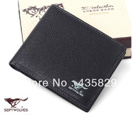 Free shipping 2014 Septwolves  men long design horizontal genuine leather  vertical wallets Hot sales