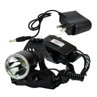 2PCS/LOT New Waterproof Headlight 1600Lm 18650 CREE XM-L XML T6 Headlamp rechargeable led headlamp+Charger Adapter TK0231