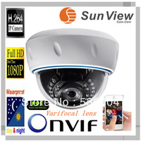 SunView SV-D2028VP-POE 1080P varifocal lens HD network ip camera with IR-cut Apple Android Windows IP system