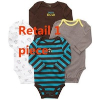 2014 Baby Romper carter's long sleeve carters boy girl romper free shipping Moq 1pcs