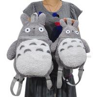 High quality Totoro Girl Plush Backpack Kids Bag 30cm Student 40cm, Women bags Large size