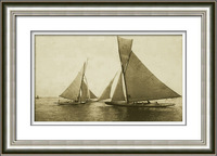 Handpainted Decorative PS Frame SpraySailboat Junk Yacht Sailing Boat Oil Painting Drawing Paint Picture