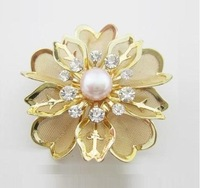 YSXZ033 OL fashion Flower Genuine pearl brooch 2013 bouquet breastpin fashion pearl jewelry wholesale free shipping