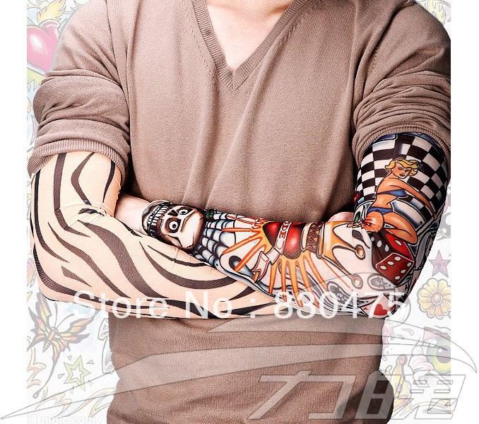 Manicotti del tatuaggio del braccio gambali all'aperto equitazione