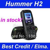 in stock freeshiping original HUMMER H2 Waterproof, shockproof, Dustproof  Dual SIM Card GSM Bluetooth outdoor cell Phone