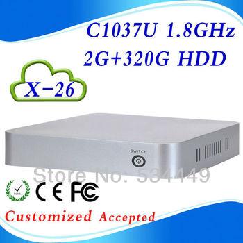 Good Quality  C1037U 1.8GHz X-26 2G ram 320gb hdd thin client thin terminal thin pc computing thin client support  video