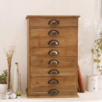 8 drawer cabinet vintage retro finishing wooden products zakka storage cabinet