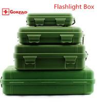 Charging Flashlight Plastic Box, Waterproof Anti Fall Within A Sponge Absorbing Box 4 Sizes Camping Home Furnishing Travel Needs