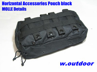Utility Pouch MOLLE Horizontal Accessories Pouch black    ID020