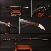 Japanese Samurai Sword 1095 High Carbon Steel Clay Tempered Blade Katana Useful * 905