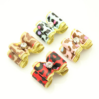 Handmade Dogs Accessories Grooming Cute Zebra Ribbon Hair Bow  Small Pet Supplies.