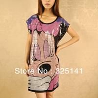 2013 New Mickey Mouse T Shirt Women tees  shirt women type T-shirts Short Sleeve Free Shipping Women's Printed T Shirts