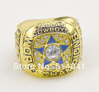 Free Shipping!size 10 Replica 18k Gold Plated,1971 Dallas Cowboy super bow World Championship Ring As Party Gift