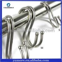 Free Shipping 100 Pcs/Lot Stainless Steel S Round Hooks Kitchen Pot Pan Hanging Hanger Rack Clothes Storage Holder