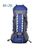 New 2014 80L Large Capacity Mountaineering Bag Hiking For Equipment Camping Waterproof Sport Backpack Knapsack Men Travel Bags