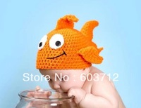 Baby Hat handmade Wiinter Crochet goldfishr Hat kids hand Knitted Beanies Animal Design Children Crochet cap